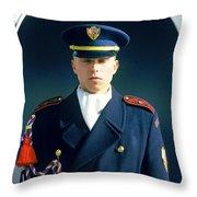 Palace Guard, Prague Throw Pillow