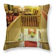 Palace Hotel Staircase Throw Pillow