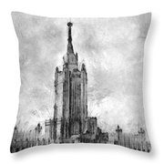 Palace Of Culture And Science Throw Pillow