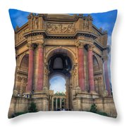 Palace Of Fine Arts With Atmospherics  Throw Pillow