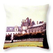 Palace Of Fontainebleau 1955 Throw Pillow