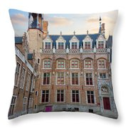 Palace Of Gruuthuse In Brugge Throw Pillow