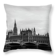 Palace Of Westminster And Elizabeth Tower Throw Pillow