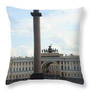 Palace Place - St. Petersburg Throw Pillow
