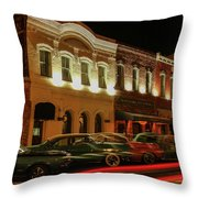 Palace Saloon Car Show Drive By Throw Pillow