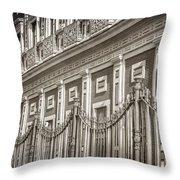 Palacio De San Telmo Facade Throw Pillow