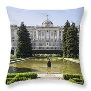 Palacio Real De Madrid Throw Pillow