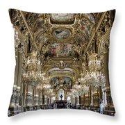 Palais Garnier Grand Foyer Throw Pillow