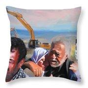 Palatine Home Demolition  Throw Pillow