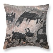 Palatki Pictoglyph Throw Pillow