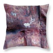 Palatki Site Pictographs Throw Pillow