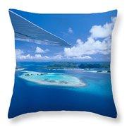 Palau Aerial Throw Pillow