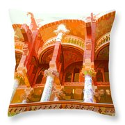Palau De La Musica Catalana Window Throw Pillow
