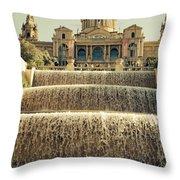 Palau Nacional Barcelona Throw Pillow