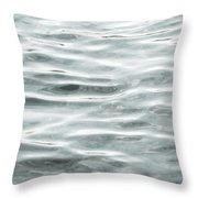 Pale Aqua Water Ripples Throw Pillow