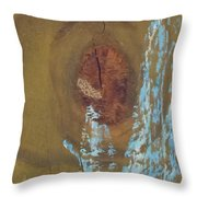 Pale Blue Chalk On Wood Throw Pillow