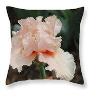 Pale Iris Throw Pillow