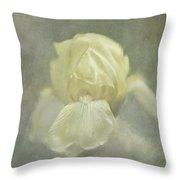 Pale Misty Iris Throw Pillow