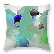 Pale Pastel Whites Gray Background Angles Rounds Blues Grays Yellow Orange Black Greens 2 9132017 Throw Pillow
