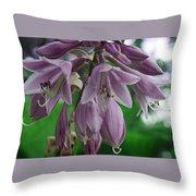 Pale Purple Starbursts Throw Pillow
