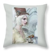 Pale Steampunk Throw Pillow