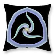 Pale Swirl Throw Pillow