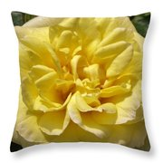 Pale Yellow Rose Throw Pillow