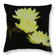 Pale Yellow Water Lilies Throw Pillow
