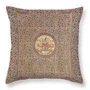 Palempore With The Arms Of The Steengracht Family, Anonymous, C. 1750 Throw Pillow