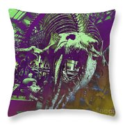 Paleo Squale Throw Pillow