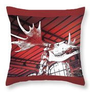 Paleo Wood Throw Pillow