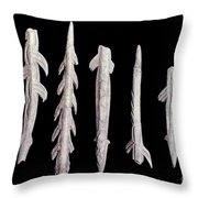Paleolithic Harpoons Throw Pillow