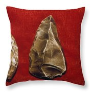 Paleolithic Tools Throw Pillow