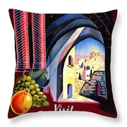 Palestine Travel Poster Throw Pillow