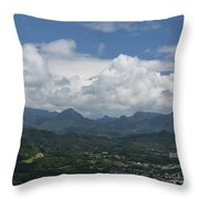 Pali Overlook Throw Pillow