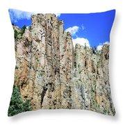 Palisades - Cimarron Canyon State Park - New Mexico Throw Pillow