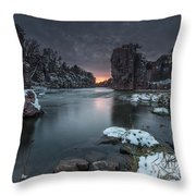 Palisades First Snow Throw Pillow