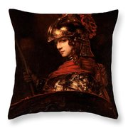 Pallas Athena  Throw Pillow by Rembrandt