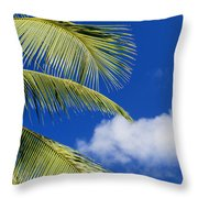 Palm Abstract Throw Pillow