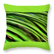 Palm Abstract By Kaye Menner Throw Pillow