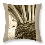 Palm Abstraction Throw Pillow