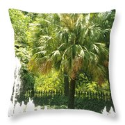 Palm And Fountain Throw Pillow