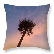 Palm At Dusk Throw Pillow