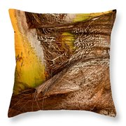 Palm Bark Throw Pillow