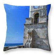 Palm Beach Clock Tower  Throw Pillow