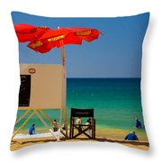 Palm Beach Dreaming Throw Pillow