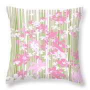 Palm Beach Floral II Throw Pillow