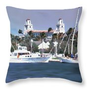 Palm Beach Middel Bridge Throw Pillow
