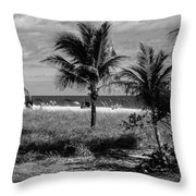 Palm Beach Road Trip Throw Pillow