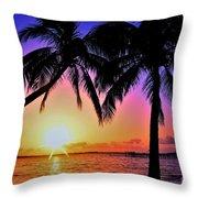 Palm Bliss Throw Pillow
